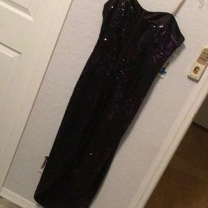 Halston Heritage Strapless Evening Gown